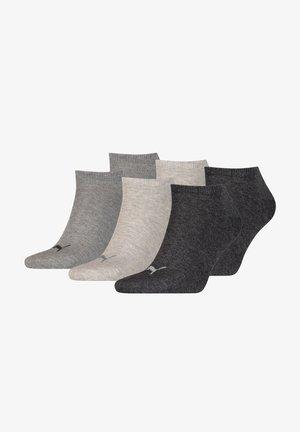 6 PACK - Trainer socks - anthraci/l mel grey/m me