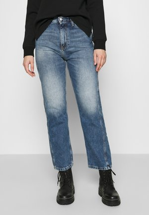 HIGH RISE STRAIGHT ANKLE - Relaxed fit jeans - light blue utility