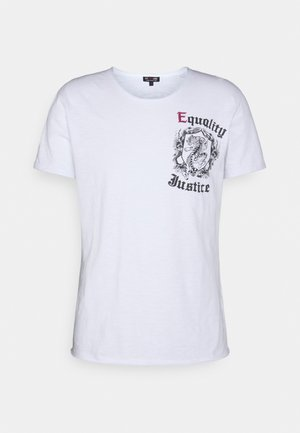 JUSTICE ROUND - T-shirt con stampa - white
