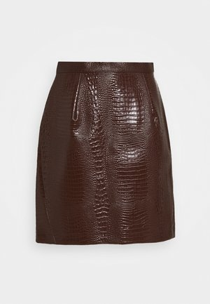 SKIRT - A-line skirt - brown