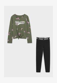 C&A - SET - Leggings - Trousers - dark green / black - 2