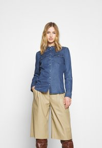 ONLY - ONLROCKIT LIFE - Button-down blouse - medium blue denim - 0