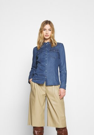 ONLROCKIT LIFE - Button-down blouse - medium blue denim