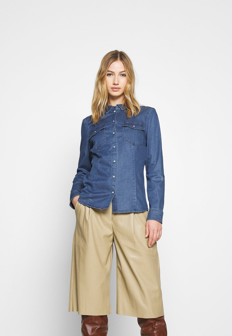 ONLY - ONLROCKIT LIFE - Button-down blouse - medium blue denim
