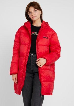 BRONWED PUFF HOOD JACKET - Winter coat - true red