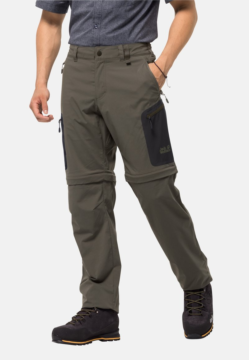Jack Wolfskin - ACTIVATE LIGHT ZIP OFF - Outdoor trousers - grape leaf