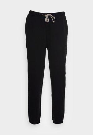 SWEATPANTS STRAIGHT LEG ELASTIC  - Tracksuit bottoms - black