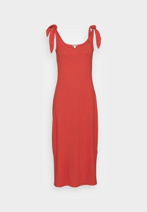 TIE DRESS - Vestido ligero - terracotta