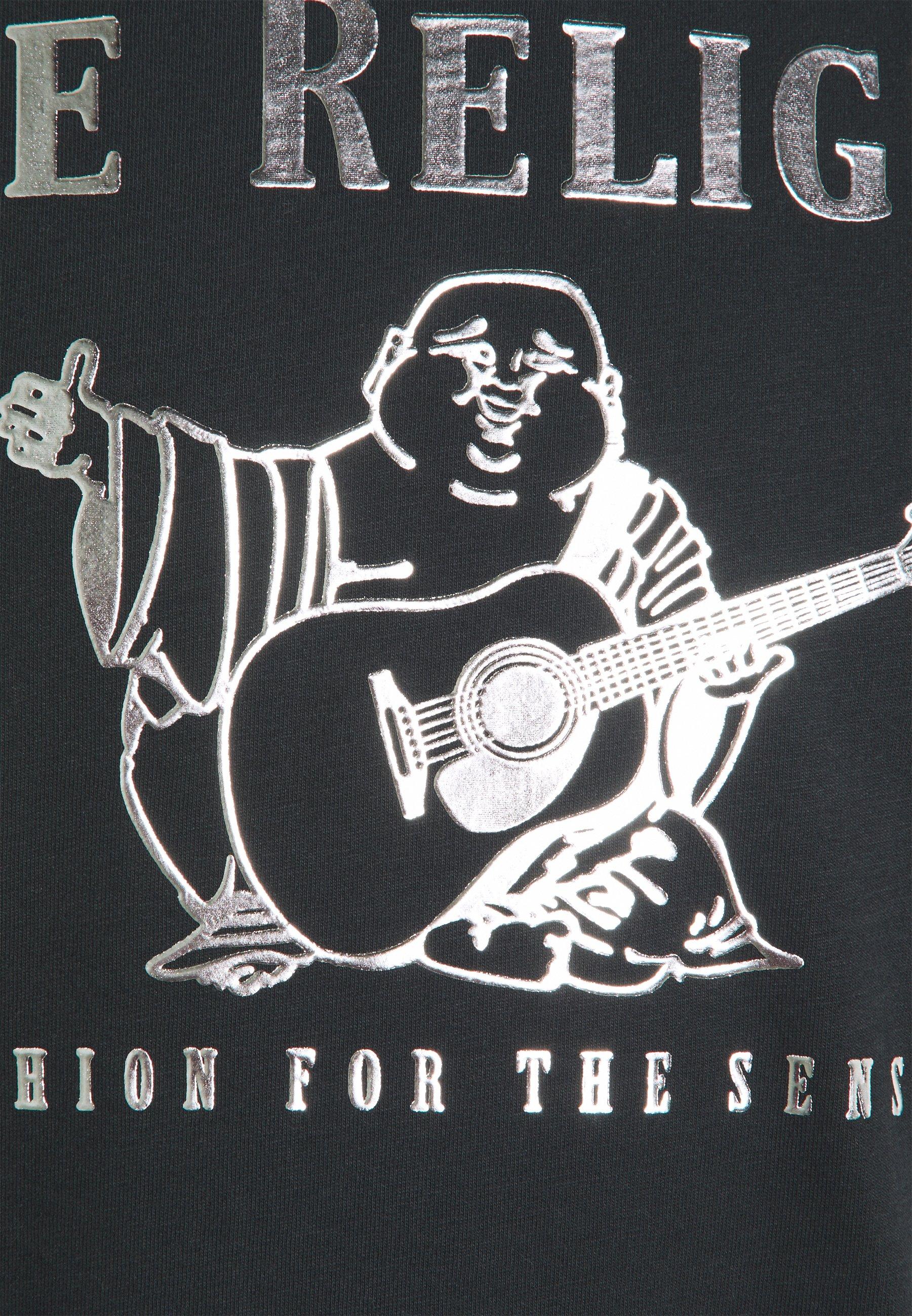 True Religion CORE LOGO TEE - Print T-shirt - black KxRqR