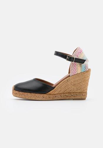 MONTY RAINBOW - Sandály na platformě - black