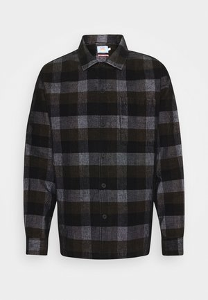 WYMAN CHECK CORD - Skjorta - deep black
