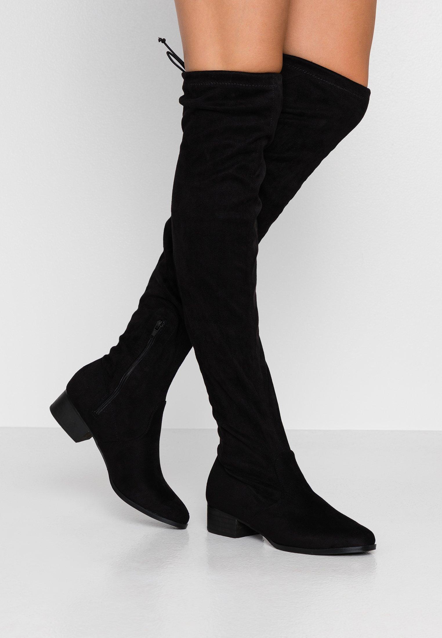 MICHELLE Overknee laarzen black