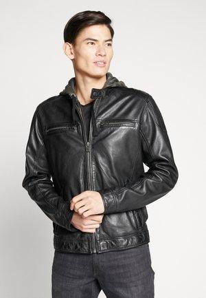 ALEX - Veste en cuir - noir