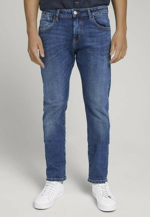 TROY  - Slim fit jeans - mid stone wash denim