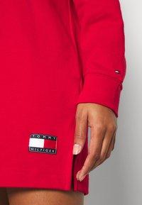 Tommy Hilfiger - HOODIE DRESS - Nightie - primary red - 4