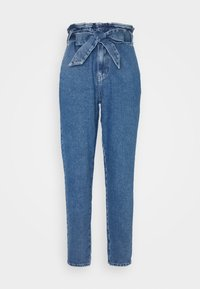 ONLY - ONLJANE PAPERBAG BELT - Vaqueros boyfriend - medium blue denim - 1
