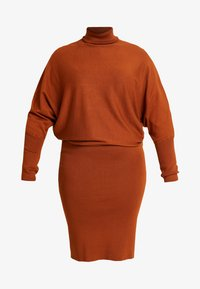 ROLL NECK BAT SHAPE DRESS - Jumper dress - caramel cafe