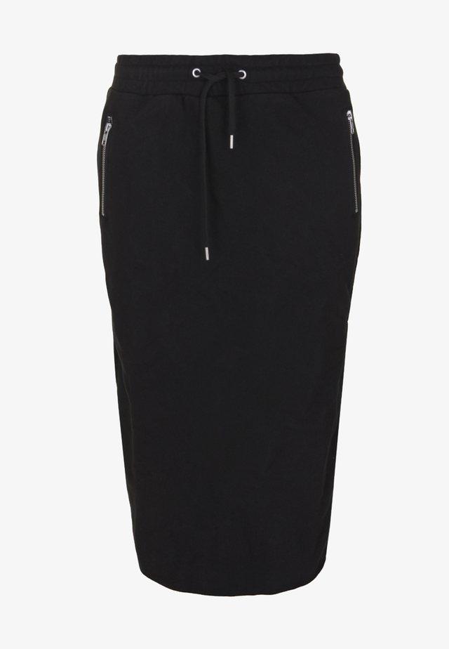ARY MIT SCHLITZ - Falda de tubo - black