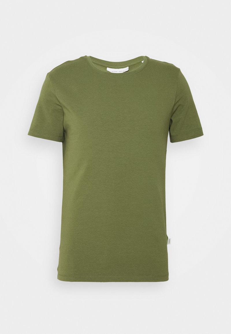 Casual Friday - DAVID CREW NECK - Basic T-shirt - olivine