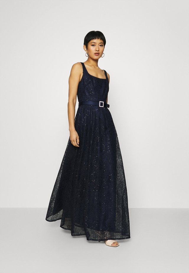 DOT SEQUIN GOWN - Abito da sera - light navy