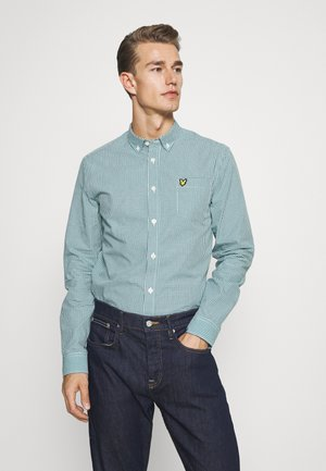 MICRO CHECK - Shirt - aqua salt