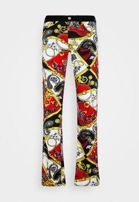 TELO BELT PAISLEY LAV - Slim fit jeans - rosso