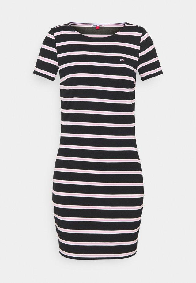STRIPED BODYCON DRESS - Jerseyjurk - black/multi