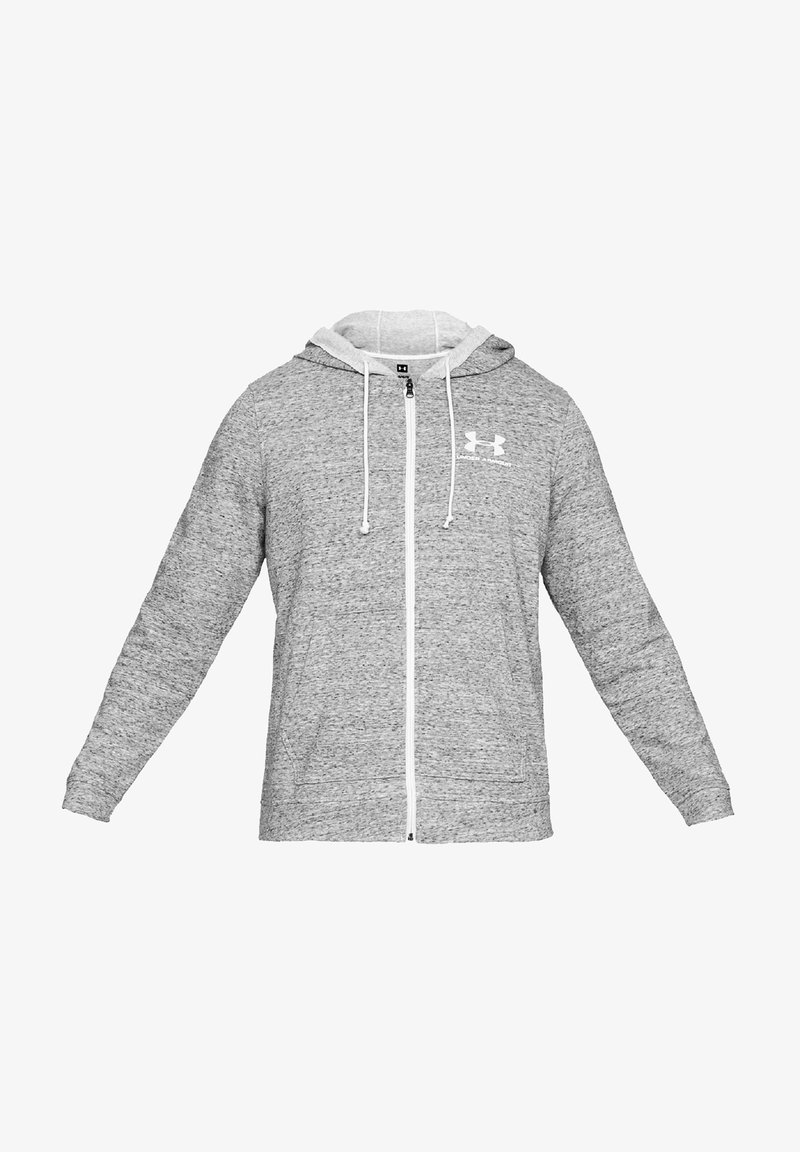 Under Armour - TERRY  - Zip-up hoodie - onyx white-onyx white