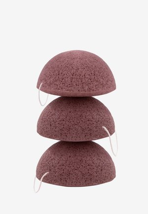 KONJAC SPONGE SET RED CLAY - Skincare tool - -