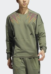 adidas Performance - PRIME COLD.RDY TOP CREW SWEATSHIRT - Sudadera - green - 4