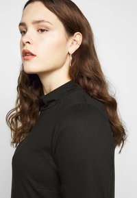 Simply Be - HIGH NECK SWING DRESS - Day dress - black - 5