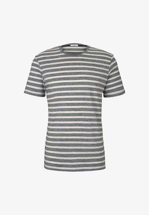 T-shirt print - offwhite navy striped
