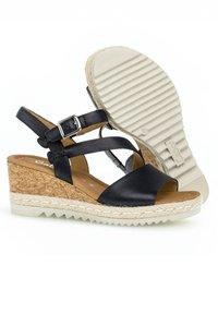 Gabor - Wedge sandals - blue - 2