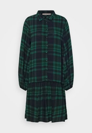 Oversized - Shirt dress - green/blue