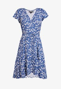 Banana Republic - WRAP PRINT DRESS - Jersey dress - indigo fog global - 5