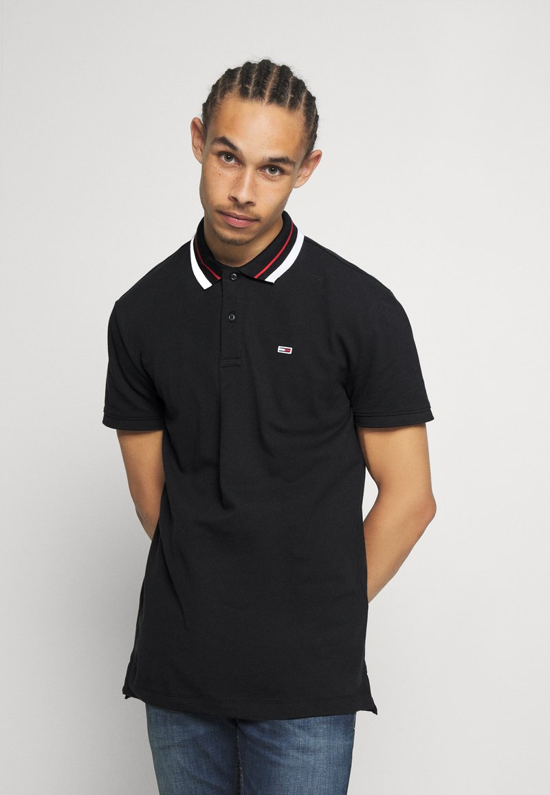 Tommy Jeans - CLASSICS TIPPED - Polo - black