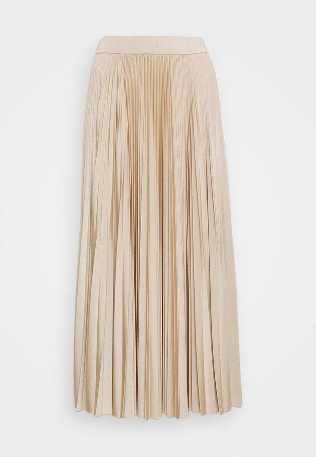 TRINCEA - Veckad kjol - beige