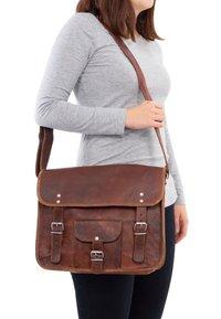 Gusti Leder - ALEX  - Across body bag - brown - 1