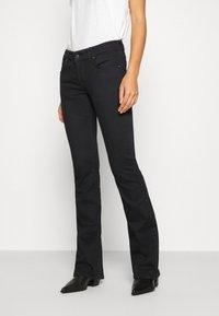 LTB - ROXY - Flared Jeans - black to black - 0
