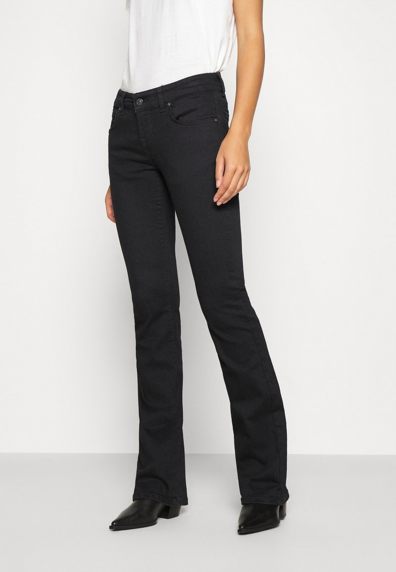 LTB - ROXY - Flared Jeans - black to black