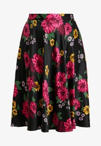 CAPSULE by Simply Be - PRINTED PROM SKIRT - A-line skirt - black/pink - 4