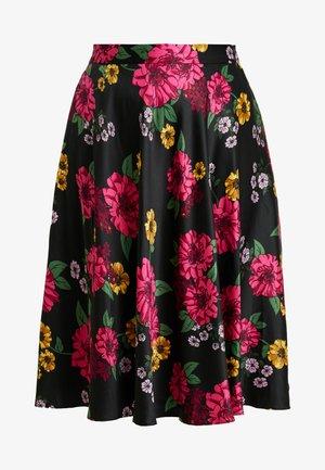 PRINTED PROM SKIRT - A-line skirt - black/pink