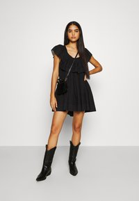 Free People - HAILEY MINI DRESS - Day dress - black - 1