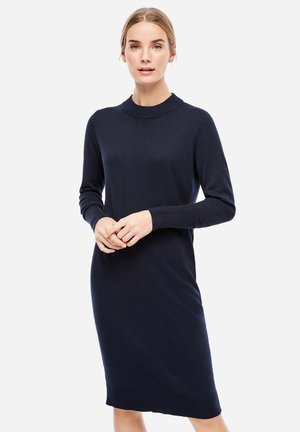 MIT GERIPPTEM - Jumper dress - navy