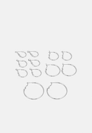 PCMIRAKLA HOOP EARRINGS 6 PACK - Earrings - silver-coloured
