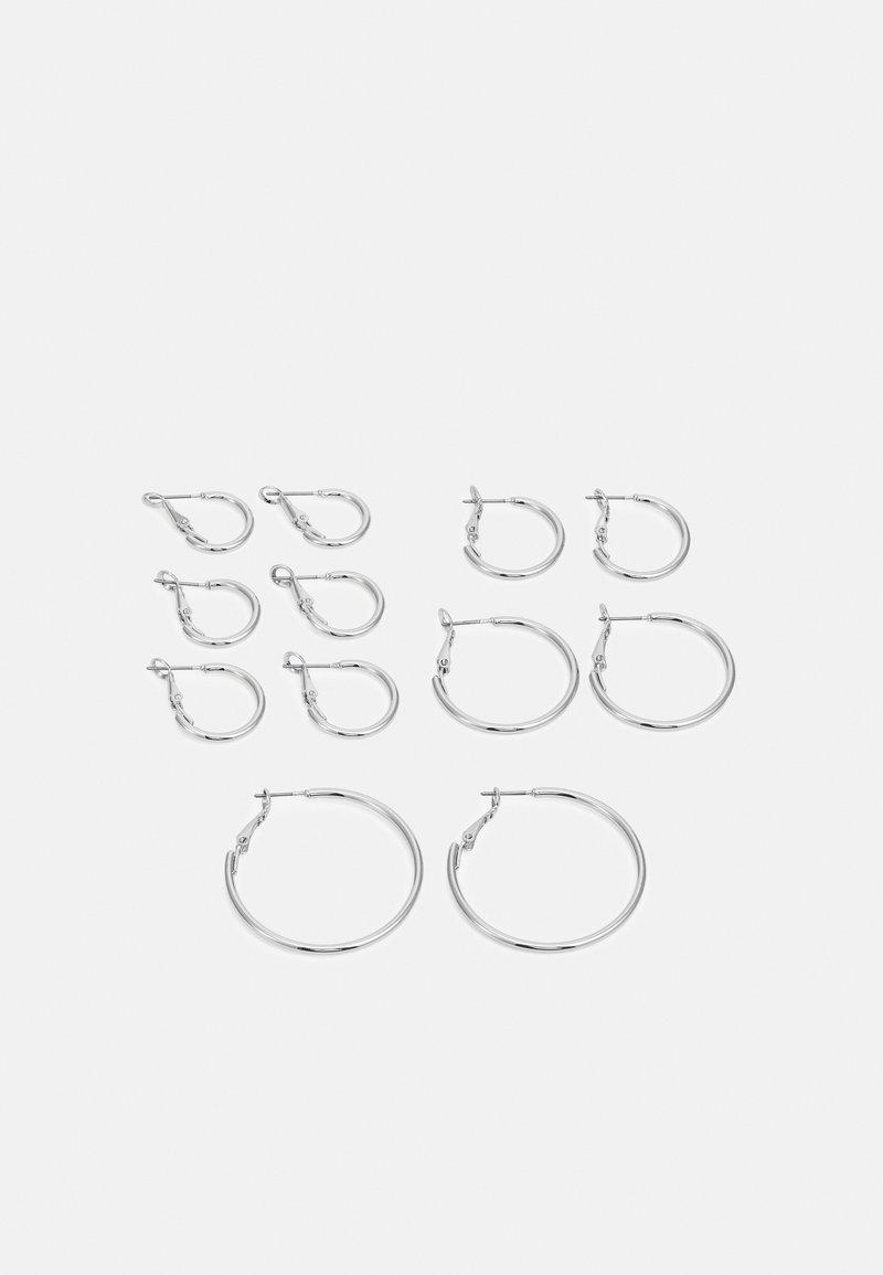 Pieces - PCMIRAKLA HOOP EARRINGS 6 PACK - Earrings - silver-coloured