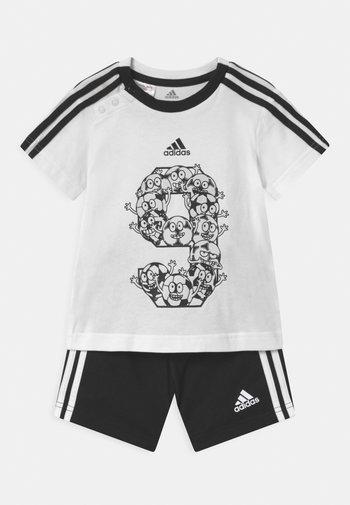 SET - Sports shorts - white/black