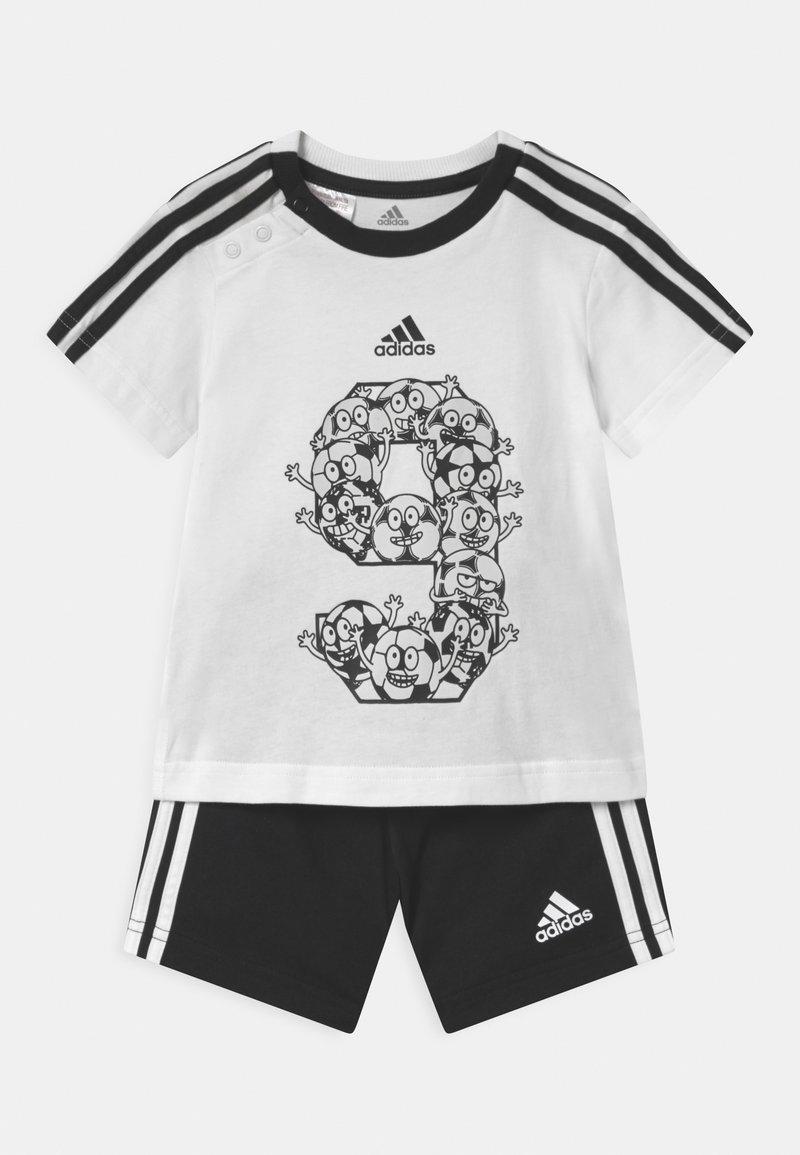adidas Performance - SET - Sportovní kraťasy - white/black