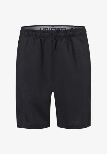 WORDMARK SHORTS - Sports shorts - black/grey