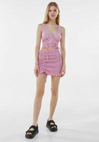 Bershka - Mini skirt - pink - 1